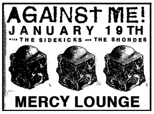 Against Me! with The Sidekicks & The Shondes