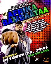 Poor Boy Productions and Inner Recess present : DJ Afrika Bambaataa, the Amen-Ra of Hip Hop and Father of Electro Funk