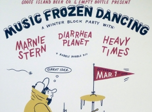 Music Frozen Dancing: A Winter Block Party featuring Marnie Stern / Diarrhea Planet / Heavy Times / Rabble Rabble DJs