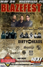 BLAZEFEST 2014 featuring Chevelle / All That Remains / Dirty Heads