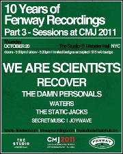 We Are Scientists featuring Recover / The Damn Personals / WATERS / The Static Jacks / Secret Music / Joywave