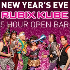 NEW YEARS EVE: Back to the Eighties Show featuring Rubix Kube the Ultimate 80's Tribute Band