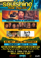 The Soulshine Tour featuring Michael Franti & Spearhead, SOJA, Brett Dennen, Trevor Hall