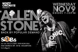 Allen Stone Back By Popular Demand, with special guest Emily King, Presented by Noizy Cricket!!