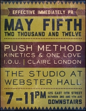PushMethod plus Kinetics & One Love / I.O.U. / Claire London