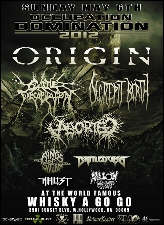 OCCUPATION DOMINATION 2012 featuring Origin / Cattle Decapitation / Decrepit Birth / Aborted / Rings of Saturn / Battlecross