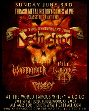 Destruction featuring Warbringer / Vital Remains / Pathology