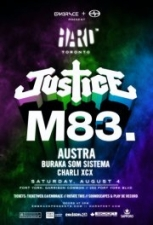 Justice &amp; M83 with Austra , Buraka Som Sistema &amp; Charli XCX