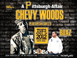 Chevy Woods & Boaz featuring A Pittsburgh Affair / Presented by Noizy Cricket!! & Rocksmith