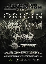 Origin with Cattle Decapitation / Decrepit Birth / Aborted / Rings of Saturn / Battlecross / Face of Ruin