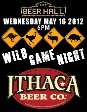 Wild Game Night with ITHACA BEER CO.