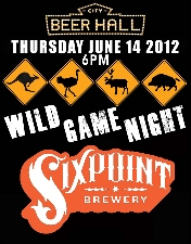Wild Game Night with SIXPOINT BREWERY