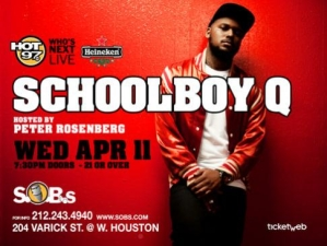 SCHOOLBOY Q, Hosted by Rosenberg, PRESENTED BY HEINEKEN