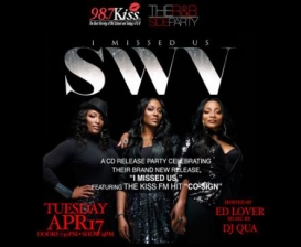 SWV, 98.7 KISS FM R&B-SIDES, Hosted by ED LOVER & Music by DJ QUA