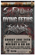 Six Feet Under featuring Dying Fetus / Revocation