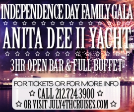 IndepenDANCE Day Fireworks Cruise Aboard The Anita Dee II Yacht