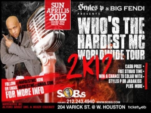 WHO'S THE HARDEST? with STYLES P / The Hardest MC 2K 12Rap Tour