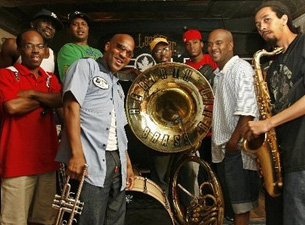 Tickets will be available at the door starting at 6pm for $45 cash only /Rebirth Brass Band with Brother Joscephus and the Love Revival Revolution Orchestra and The Main Squeeze plus DJ Cochon de Lait