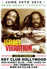 Sean Healy/ Key Club Presents Israel Vibration