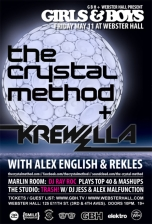 Girls & Boys : THE CRYSTAL METHOD / KREWELLA