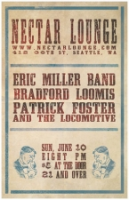 ERIC MILLER BAND with BRAD LOOMIS AND THE RESONANCE & Patrick Foster and The Locomotive