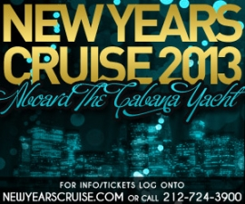 New Year's Eve Cruise 2013 Aboard The Cabana Yacht