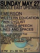 Emerson , Western Education , Twin Cyclist , & more