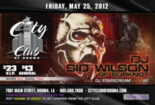 DJ SID WILSON of SLIPKNOT A.K.A. DJ STARSCREAM A.K.A.#0 featuring TBA / GUEST DJ'S