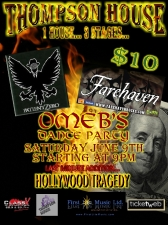 PATIENT ZERO featuring FAREHAVEN with HOLLYWOOD TRAGEDY and OMEB Dance Party in Heaven's Parlour