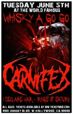 Carnifex featuring I Declare War / Rings of Saturn