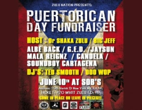 Puerto Rican Day Fundraiser featuring ALBE BACK, G.E.D., MALA REIGNZ, JAYSUN CANDELA, SOUNDBOY CARTAGENA / Hosted by Dr SHAKA ZULU & BIG JEFF w/ DJ Ted Smooth