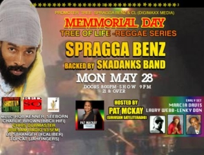 Spragga Benz with Skadanks plus MARCIA DAVIS, LAURY WEBB / Hosted by Pat Mckay with music by Rob Kenner, Seeborn, Charlie Brown & more