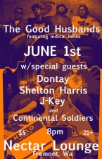 THE GOOD HUSBANDS with DJ Indica Jones / Continental Soldiers / Dontay, Shelton Harris & J-Key