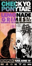 CHECK YO PONYTAIL 2 with LEMONADE, GRIMES (DJ Set), Blood Diamonds & LE1F