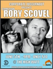 Corporate Juggernaut presents Rory Scovel