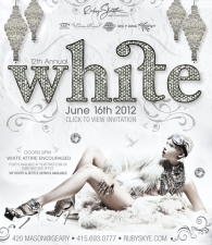 12th Annual WHITE featuring CEDRIC GERVAIS & MANUFACTURED SUPERSTARS plus Trevor Simpson & Tall Sasha