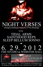 Night Verses (ft. Doug Robinson of The Sleeping) plus Tidal Arms / Sainthood Reps / Sleep Bellum Sonno
