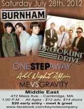 Burnham , Brookline Drive , One Step Away , & more