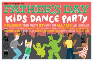 KEXP FATHER'S DAY KIDS DANCE PARTY with Hosted By John Richards / DJs: Riz & Darek Mazzone / 11am - 2pm