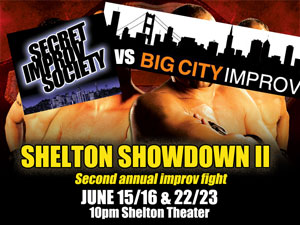 Secret Improv Society vs. Big City Improv in the second annual Shelton Showdown