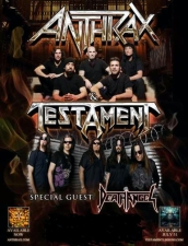 Anthrax and Testament with special guest Death Angel