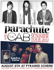 The Cab + Parachute + Katelyn Tarver