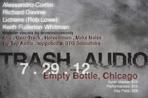 TRASH_AUDIO Synth Meet featuring 4ms / Gear-track / Harvestman / Make Noise / STG Soundlabs / Tip Top Audio / Topobrillo
