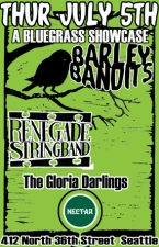 NW BLUEGRASS SHOWCASE w/ Renegade Stringband / Barley Bandits / The Gloria Darlings
