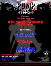 PUMP Sessions Presents: A Wounded Warrior Project featuring The Wicked Tomorrow / F. Stokes / James Dean Wells (of The Gay Blades)
