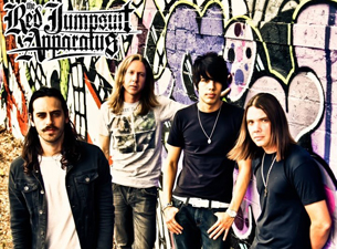 The Red Jumpsuit Apparatus with Set It Off, Patent Pending, Wearing In The Inside Out