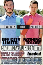 Twenty One Pilots featuring Off City Limits / Three Friends Short / This Damn Universe / Frank Buick / Happy Kid / Head North!