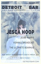 Jesca Hoop with Jesse Harris , Voxhaul Broadcast & The Ultimate Bearhug