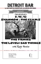 LA RECORD, Blundertown & Burger Records present : Shannon and the Clams, The TRMRS & The Lovely Bad Things