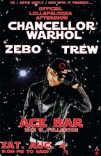 Chancellor Warhol & ZEBO Featuring DJ TREW Added live art by: Rahmaan Statick Hosted By: Pugs Atomz